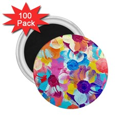 Anemones 2 25  Magnets (100 Pack)  by DanaeStudio