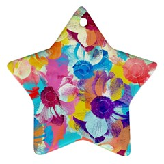 Anemones Star Ornament (two Sides)  by DanaeStudio