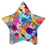 Anemones Star Ornament (Two Sides)