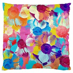 Anemones Large Cushion Case (two Sides) by DanaeStudio