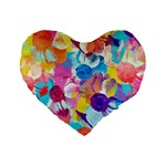 Anemones Standard 16  Premium Flano Heart Shape Cushions