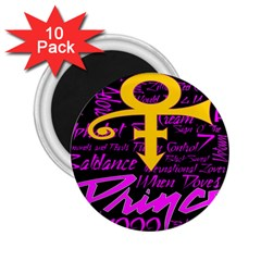 Prince Poster 2 25  Magnets (10 Pack)  by Onesevenart