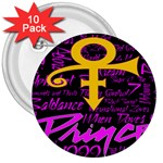 Prince Poster 3  Buttons (10 pack)