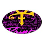 Prince Poster Oval Magnet