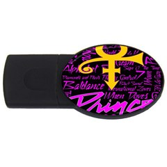 Prince Poster Usb Flash Drive Oval (2 Gb)  by Onesevenart