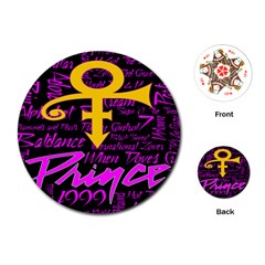 Prince Poster Playing Cards (round)  by Onesevenart