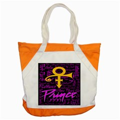 Prince Poster Accent Tote Bag by Onesevenart