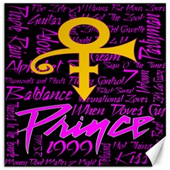 Prince Poster Canvas 12  X 12   by Onesevenart