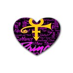 Prince Poster Rubber Coaster (Heart)