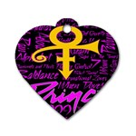 Prince Poster Dog Tag Heart (Two Sides)