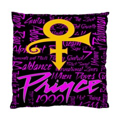 Prince Poster Standard Cushion Case (two Sides) by Onesevenart