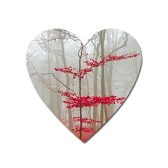 Magic Forest In Red And White Heart Magnet by wsfcow