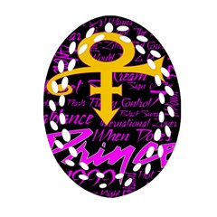 Prince Poster Ornament (oval Filigree)  by Onesevenart