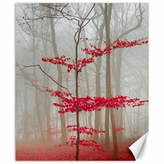 Magic Forest In Red And White Canvas 8  X 10  by wsfcow