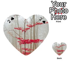 Magic Forest In Red And White Playing Cards 54 (heart)  by wsfcow