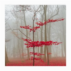 Magic Forest In Red And White Medium Glasses Cloth by wsfcow