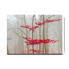 Magic Forest In Red And White Small Doormat  by wsfcow