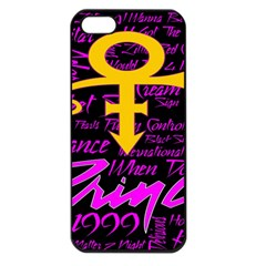 Prince Poster Apple Iphone 5 Seamless Case (black) by Onesevenart