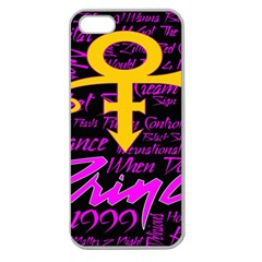 Prince Poster Apple Seamless Iphone 5 Case (clear) by Onesevenart