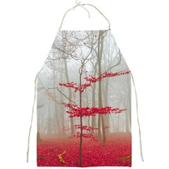 Magic Forest In Red And White Full Print Aprons by wsfcow