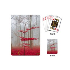 Magic Forest In Red And White Playing Cards (mini)  by wsfcow