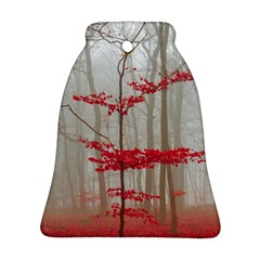 Magic Forest In Red And White Bell Ornament (2 Sides) by wsfcow