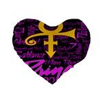 Prince Poster Standard 16  Premium Flano Heart Shape Cushions
