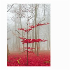 Magic Forest In Red And White Small Garden Flag (two Sides) by wsfcow