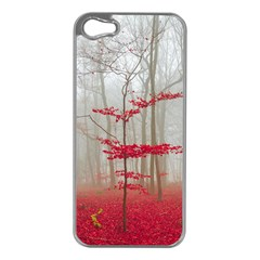 Magic Forest In Red And White Apple Iphone 5 Case (silver) by wsfcow