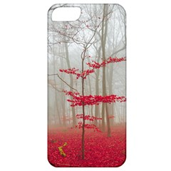 Magic Forest In Red And White Apple Iphone 5 Classic Hardshell Case by wsfcow