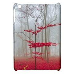 Magic Forest In Red And White Apple Ipad Mini Hardshell Case by wsfcow