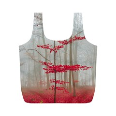 Magic Forest In Red And White Full Print Recycle Bags (m)  by wsfcow