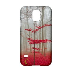 Magic Forest In Red And White Samsung Galaxy S5 Hardshell Case  by wsfcow