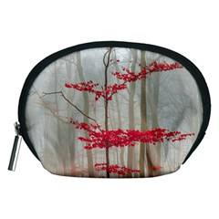 Magic Forest In Red And White Accessory Pouches (medium)  by wsfcow