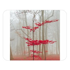 Magic Forest In Red And White Double Sided Flano Blanket (large)  by wsfcow