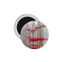 Magic Forest In Red And White 1 75  Magnets by wsfcow