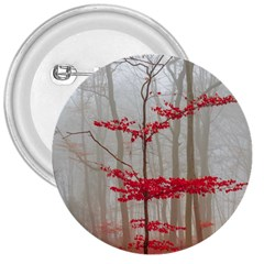 Magic Forest In Red And White 3  Buttons by wsfcow