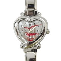 Magic Forest In Red And White Heart Italian Charm Watch by wsfcow