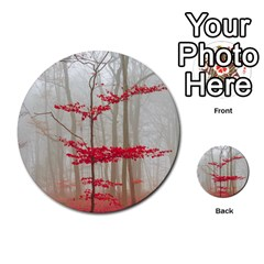 Magic Forest In Red And White Multi Purpose Cards (round)  by wsfcow