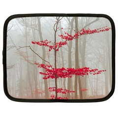 Magic Forest In Red And White Netbook Case (large) by wsfcow