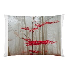 Magic Forest In Red And White Pillow Case by wsfcow