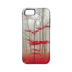 Magic Forest In Red And White Apple Iphone 5 Classic Hardshell Case (pc+silicone) by wsfcow