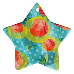 Red Cherries Star Ornament (two Sides)  by DanaeStudio