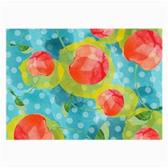 Red Cherries Large Glasses Cloth (2 Side) by DanaeStudio