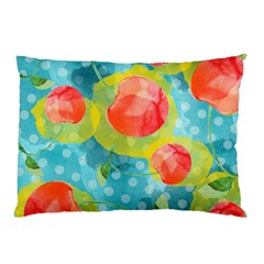 Red Cherries Pillow Case by DanaeStudio
