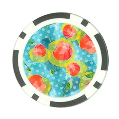 Red Cherries Poker Chip Card Guards (10 Pack)  by DanaeStudio