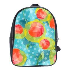 Red Cherries School Bags(large)  by DanaeStudio