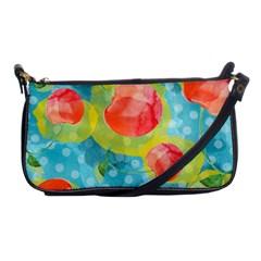 Red Cherries Shoulder Clutch Bags by DanaeStudio