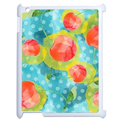Red Cherries Apple Ipad 2 Case (white) by DanaeStudio