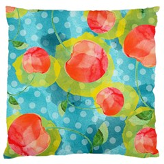 Red Cherries Large Cushion Case (two Sides) by DanaeStudio
